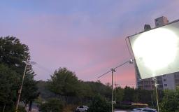 새벽촬영 중 하늘
