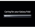 삼성 최신 갤럭시 폴드 비디오, 조심히 사용 상기